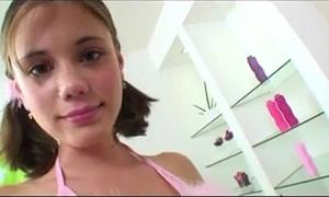 Sweet 18yo legal age teenager Amour propre rails a huge white-hot marital-device  www.beeg18.com