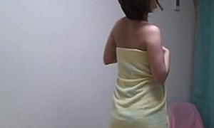 Japanese Legal age teenager Takes a Shower and Changes respecting Nightie