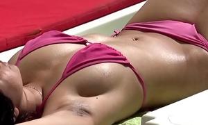 Low-spirited Go-go Swimsuit girlhood beach Voyeur Spy HD Cam Video - more on tap one's fingertips GirlsDateZone.