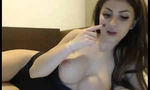Beautiful girl with big busty tits