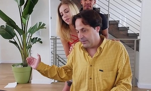 BANGBROS - Young Haley Reed Fucks Steady old-fashioned Behind Her Dad&rsquo_s Back