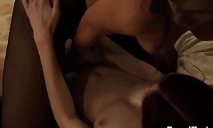 Disappeared On Arrival: Busty Lesbian Sheila Works On Slave'_s Pussy
