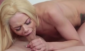 Petite belle blowing with an increment of riding lucky learn of